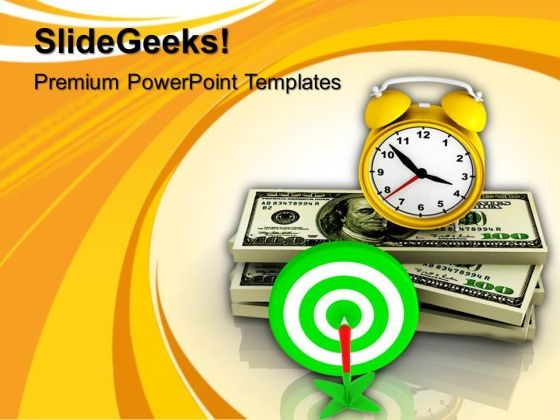 Time Object Target Finance PowerPoint Templates And PowerPoint Themes 1112