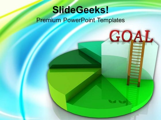 Time To Achieve Goal With Pie Chart PowerPoint Templates Ppt Backgrounds For Slides 0313