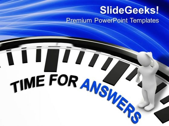Time To Answer The Questions PowerPoint Templates Ppt Backgrounds For Slides 0313