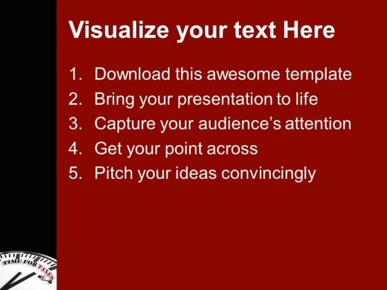 time to prepare and pay taxes powerpoint templates ppt backgrounds, Modern powerpoint