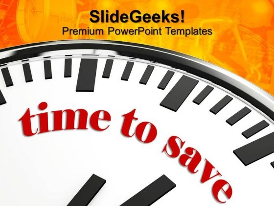Time To Save Future PowerPoint Templates And PowerPoint Themes 0812