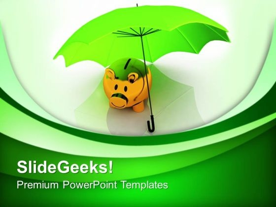 Time To Save Money In Piggy Bank PowerPoint Templates Ppt Backgrounds For Slides 0413
