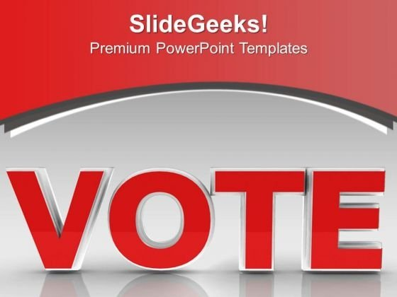Time To Vote Presidential Elections Government PowerPoint Templates Ppt Backgrounds For Slides 1112