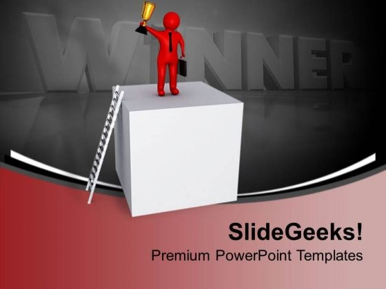 To Be A Winner Go Closer To Hardwork PowerPoint Templates Ppt Backgrounds For Slides 0713