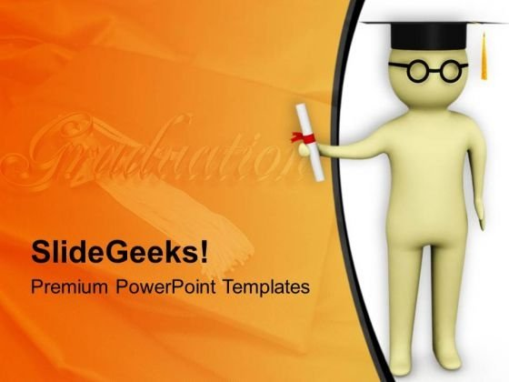 To Get Graduation Degree Learn Subjects PowerPoint Templates Ppt Backgrounds For Slides 0813