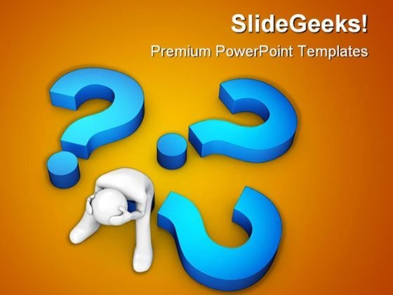 Too Many Questions Business PowerPoint Themes And PowerPoint Slides 0411
