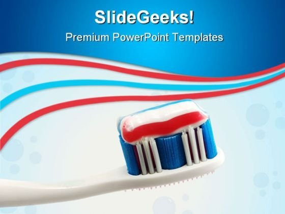 Toothbrush With Toothpaste Dental PowerPoint Themes And PowerPoint Slides 0811