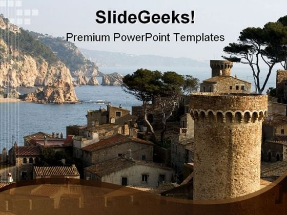 Tossa De Mar Catalonia Beauty PowerPoint Templates And PowerPoint Backgrounds 0211