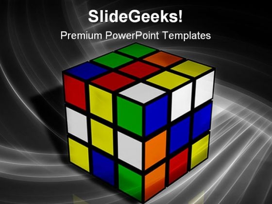 Tough Rubix Cube Metaphor PowerPoint Themes And PowerPoint Slides 0211