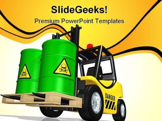 Toxic Waste Truck Transportation PowerPoint Themes And PowerPoint Slides 0411