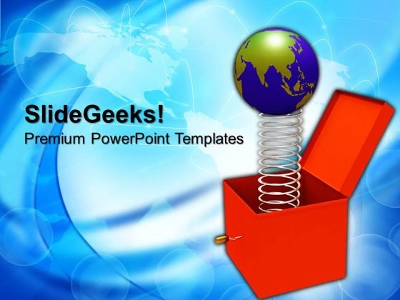 Toy With Jumping Globe Box PowerPoint Templates And PowerPoint Themes 0912