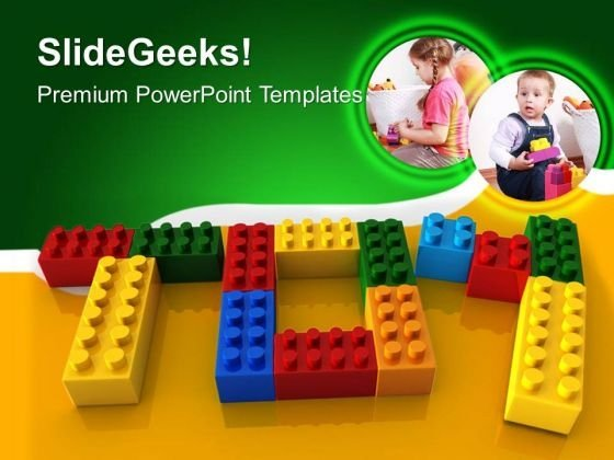 Toy Word With Lego Children PowerPoint Templates And PowerPoint Themes 0512