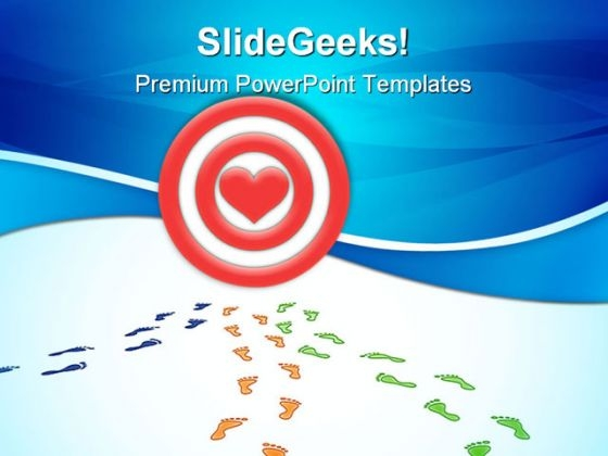 Traces Footprints Symbol PowerPoint Themes And PowerPoint Slides 0511