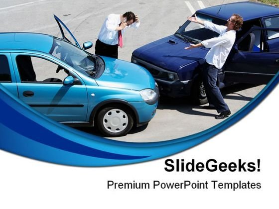 Traffic Car Accident People PowerPoint Themes And PowerPoint Slides 0511