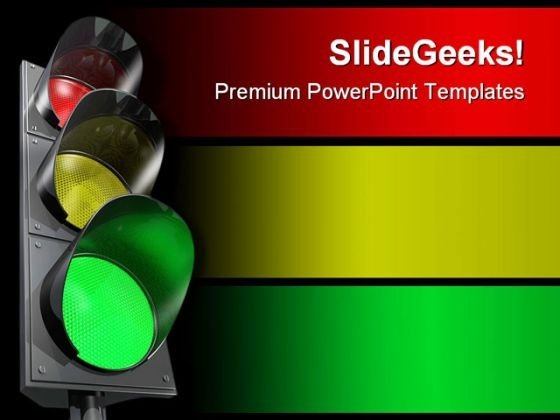 Traffic Lights Metaphor PowerPoint Themes And PowerPoint Slides 0811