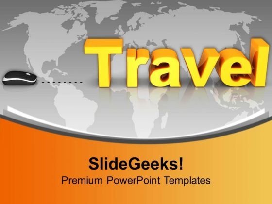 Travel With Computer Mouse Concept PowerPoint Templates And PowerPoint Themes 1112