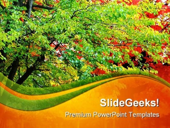 Trees Nature PowerPoint Themes And PowerPoint Slides 0411