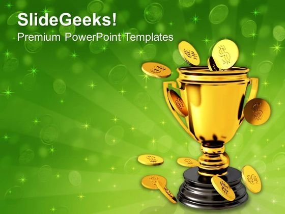 Trophy And Coin Currency Business PowerPoint Templates And PowerPoint Themes 1112