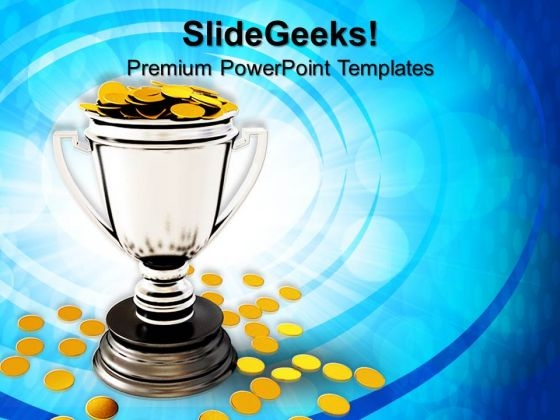Trophy Cup And Coin Business PowerPoint Templates And PowerPoint Themes 0912