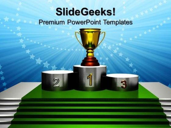 Trophy Simplicity Competition PowerPoint Templates And PowerPoint Themes 0812