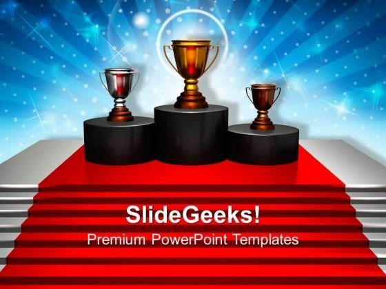 Trophy Winner Competition PowerPoint Templates And PowerPoint Themes 1112