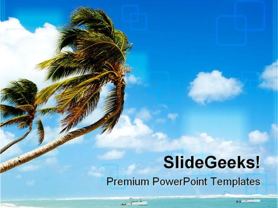 Tropical Beach Beauty PowerPoint Templates And PowerPoint Backgrounds 0311