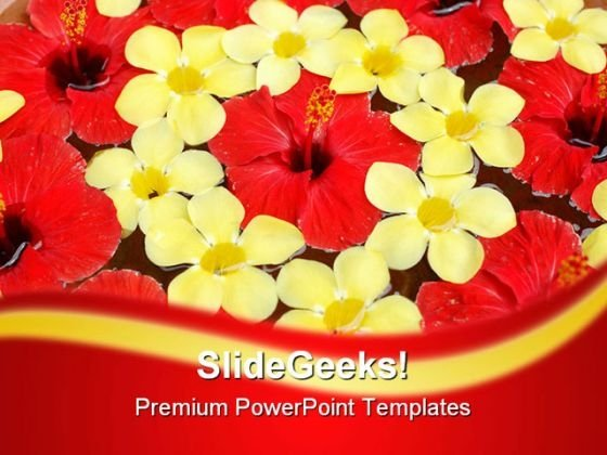 Tropical Flower Beauty PowerPoint Templates And PowerPoint Backgrounds 0311
