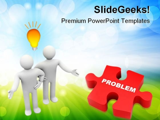 Troubleshooting Problem Business PowerPoint Themes And PowerPoint Slides 0511