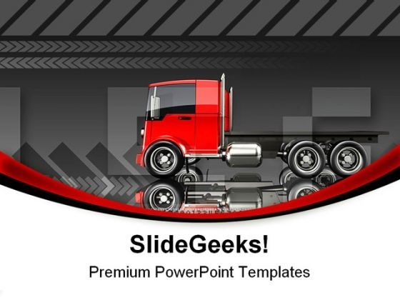 Trucking Travel PowerPoint Templates And PowerPoint Backgrounds 0811