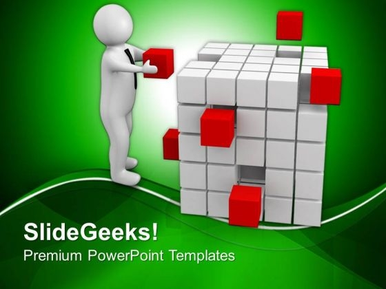 Trying To Focus On Task PowerPoint Templates Ppt Backgrounds For Slides 0713