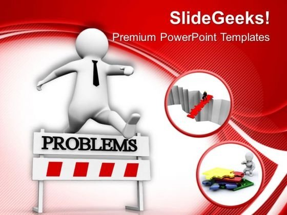 Trying To Overcome From The Problems Business PowerPoint Templates Ppt Backgrounds For Slides 0713