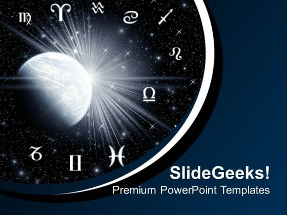 Twelve Astrology Symbols PowerPoint Templates And PowerPoint Themes 0712