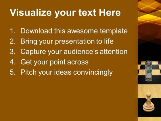 twisted_dollars_and_chess_pieces_strategy_powerpoint_templates_and_powerpoint_themes_1112_text
