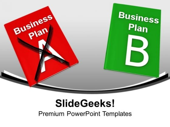 Two Different Plans A And Plan B Business PowerPoint Templates Ppt Backgrounds For Slides 1112