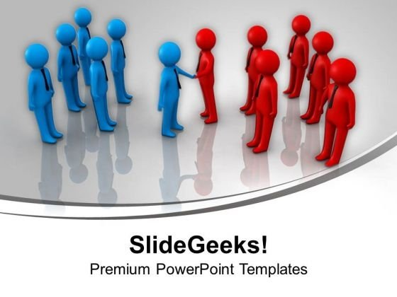 Two Teams Handshake Business PowerPoint Templates Ppt Background For Slides 1112