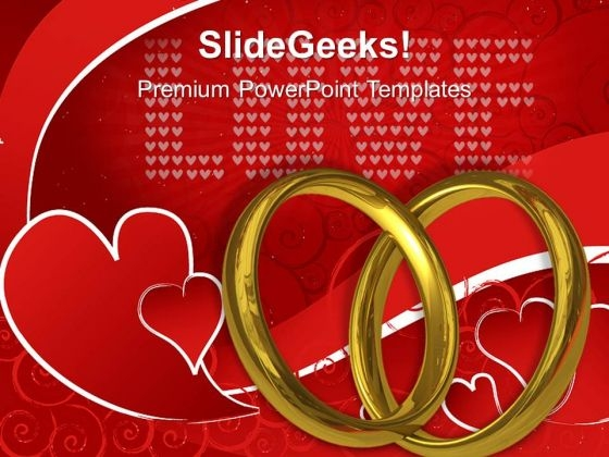 Two Wedding Rings Symbol PowerPoint Templates And PowerPoint Themes 1112