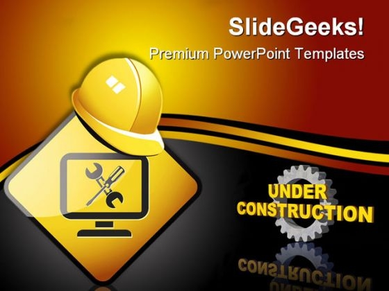 Under Construction01 Architecture PowerPoint Templates And PowerPoint Backgrounds 0611