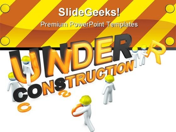 Under Construction03 Architecture PowerPoint Templates And PowerPoint Backgrounds 0811