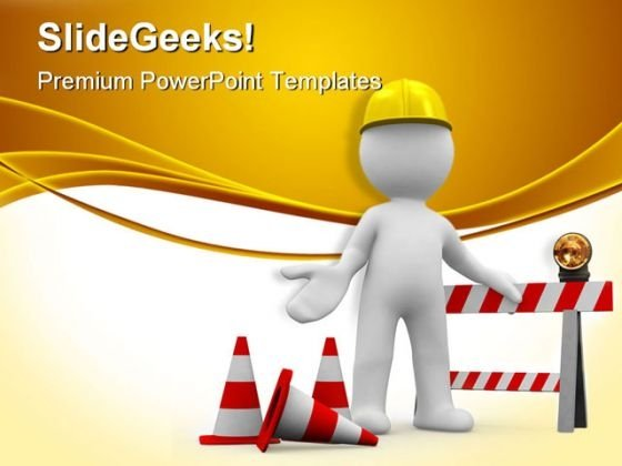 Under Construction08 Architecture PowerPoint Templates And PowerPoint Backgrounds 0811