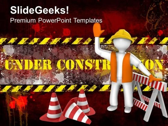 Under Construction Business PowerPoint Templates And PowerPoint Themes 0512