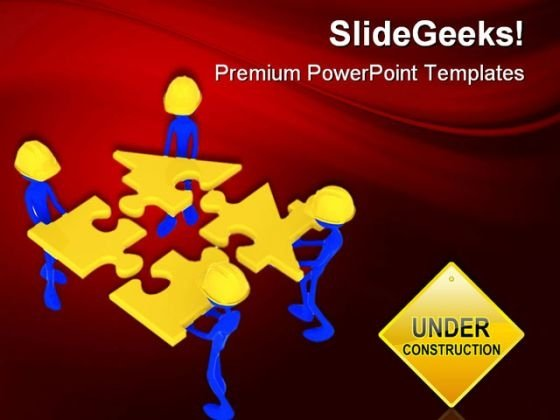 Under Construction Metaphor PowerPoint Themes And PowerPoint Slides 0511