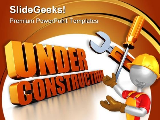 Under Construction People PowerPoint Templates And PowerPoint Backgrounds 0511