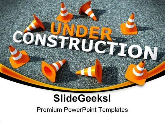 Under Construction Symbol PowerPoint Templates And PowerPoint Backgrounds 0711