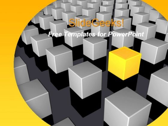 Abstract Cubes PowerPoint Template
