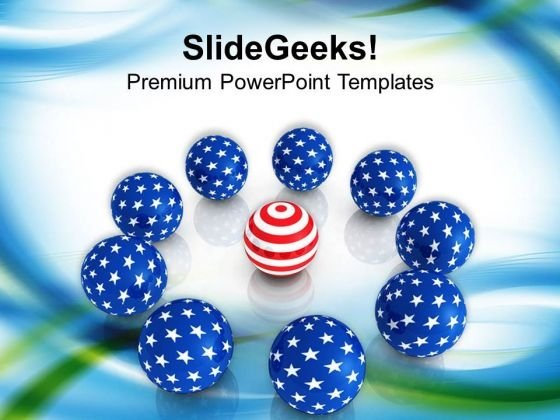 Unique Concept American Spheres PowerPoint Templates Ppt Backgrounds For Slides 0813