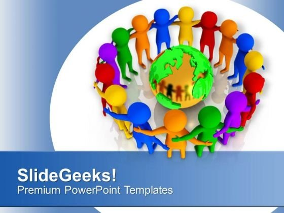 Unite People From All Over The Globe PowerPoint Templates Ppt Backgrounds For Slides 0713