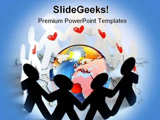 United People Globe PowerPoint Backgrounds And Templates 1210