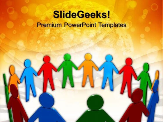 United People Teamwork PowerPoint Templates And PowerPoint Themes 1012