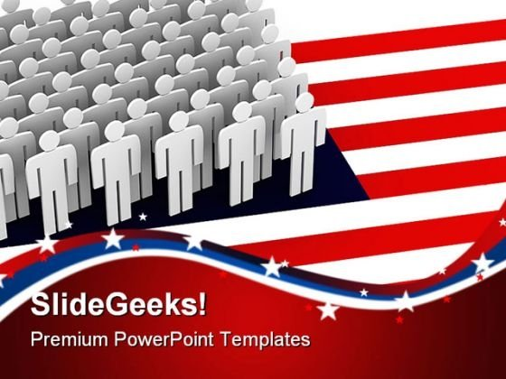 United State Americana PowerPoint Themes And PowerPoint Slides 0611