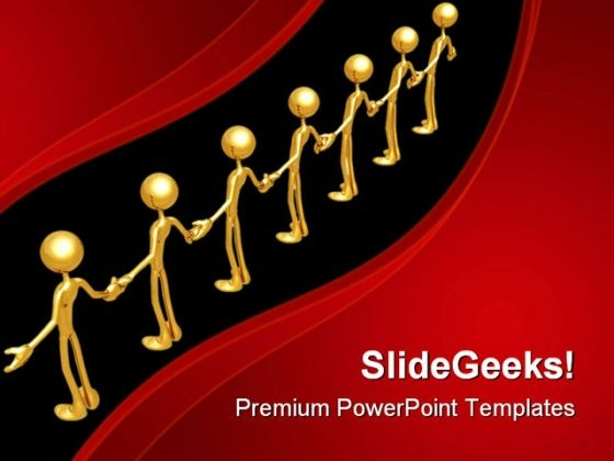 Unity Chain People PowerPoint Themes And PowerPoint Slides 0811